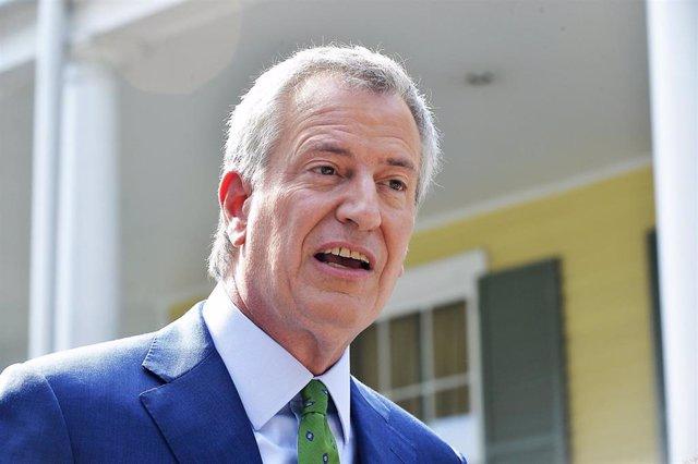 El alcalde neoyorquino, Bill de Blasio.
