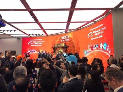 China.- Alibaba sube más de un 6% en su debut en la Bolsa de Hong Kong