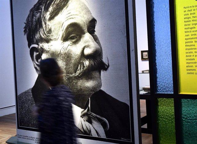Retrato del novelista Benito Pérez Galdós en la exposición 'Benito Pérez Galdós. La verdad humana' en la Biblioteca Nacional Española (BCE), en Madrid, a 31 de octubre de 2019.
