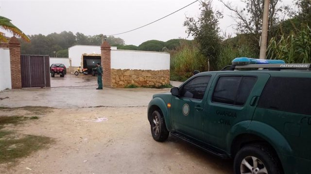 Guardia Civil en operación antidroga en la comcarca de la Janda
