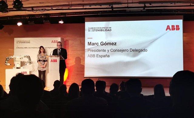 Marc Gómez, consejero delegado de ABB en España y Portugal, en la segunda edición de los Premios ABB a las mejores prácticas en digitalización