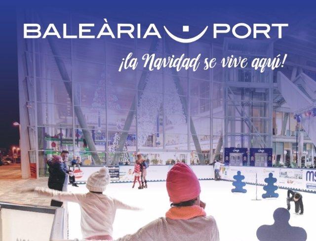 Cartel de las actividades programadas en Baleària Port.