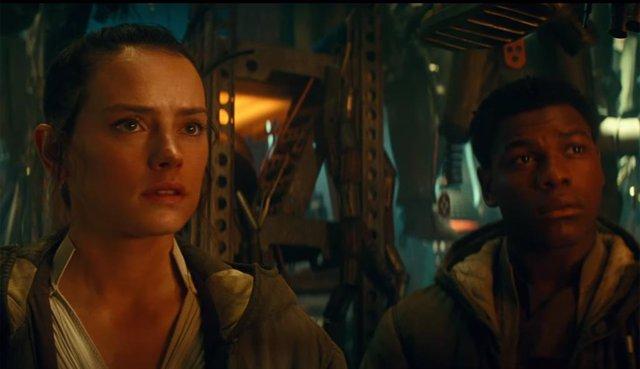 Rey y Finn en las películas de Star Wars
