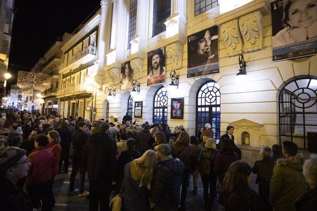 Público del Festival de Huelva de Cine Iberoamericano, en el Gran Teatro.