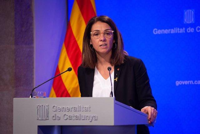 La consellera de la Presidència i portaveu del Govern, Meritxell Budó en roda de premsa, Barcelona (Espanya), 26 de novembre del 2019.