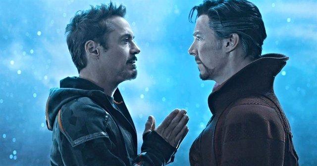 Iron Man y Doctor Strange en Vengadores: Endgame