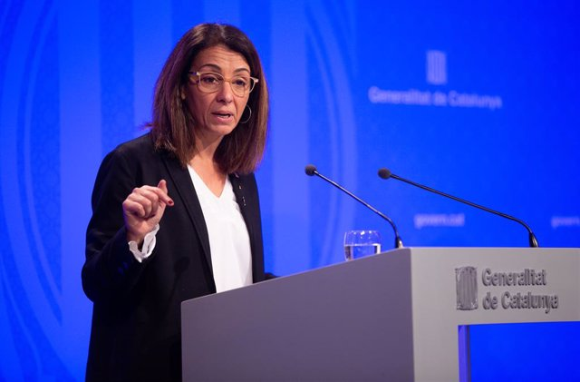 La consellera de Presidncia i portaveu del Govern, Meritxell Budó en roda de premsa del Consell Executiu de la Generalitat, a Barcelona (Espanya), 26 de novembre del 2019.