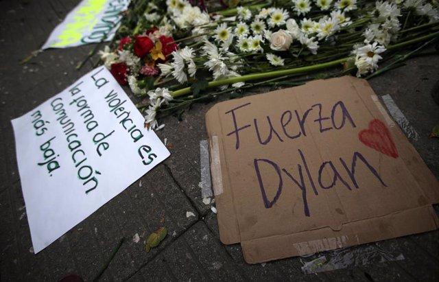 Mensajes de apoyo a Dilan Cruz