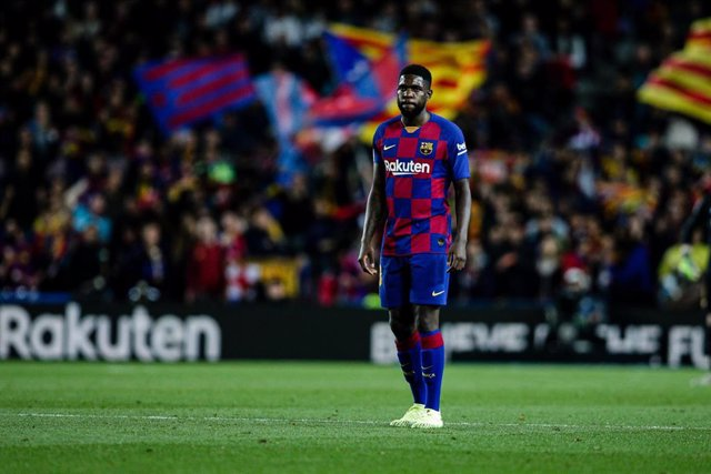 23 Samuel Umtiti from France of FC Barcelona during the La Liga Santander match between FC Barcelona and RC Celta in Camp Nou Stadium in Barcelona 09 of November of 2019, Spain.