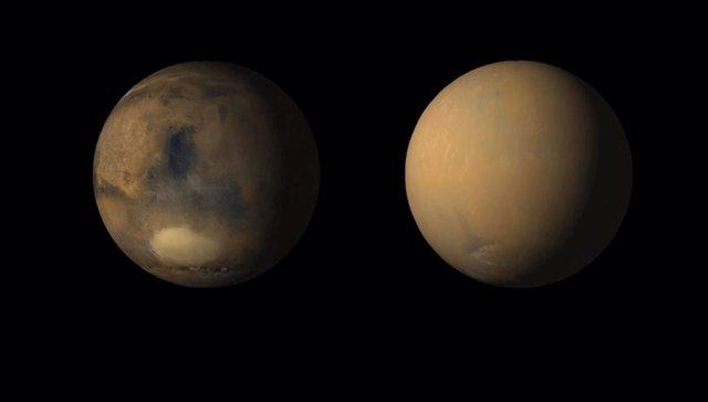 Efecto de la tormenta global de polvo en Marte
