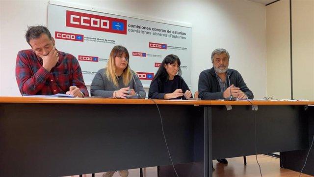 Presentación de la campaña en la sede de CCOO.