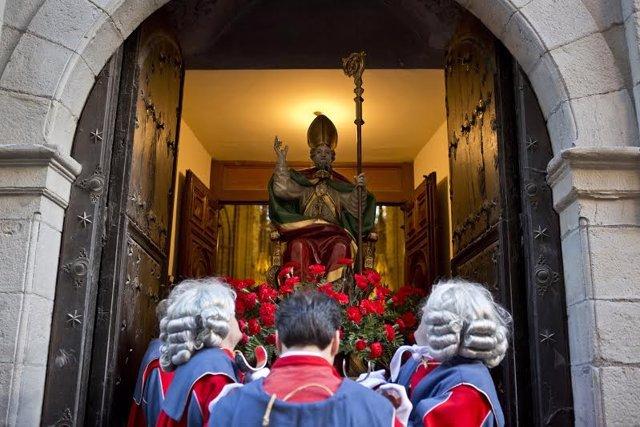 La procesión en honor a San Saturnino.
