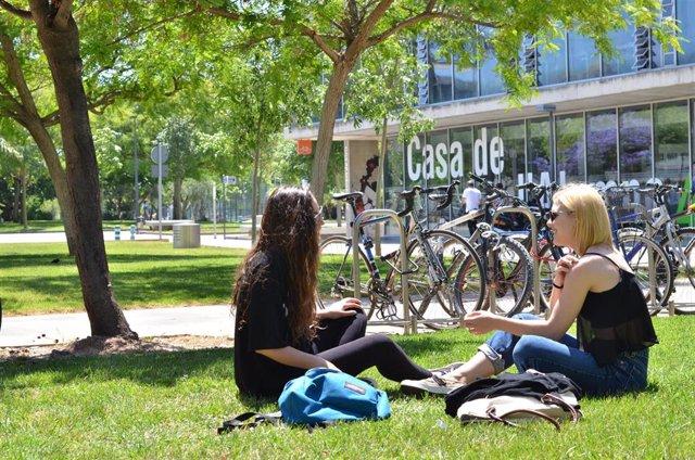 Alumans universitarias en el campus de la UPV