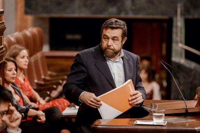 El portavoz de Ciudadanos en el Congreso, Miguel Ángel Gutierrez.