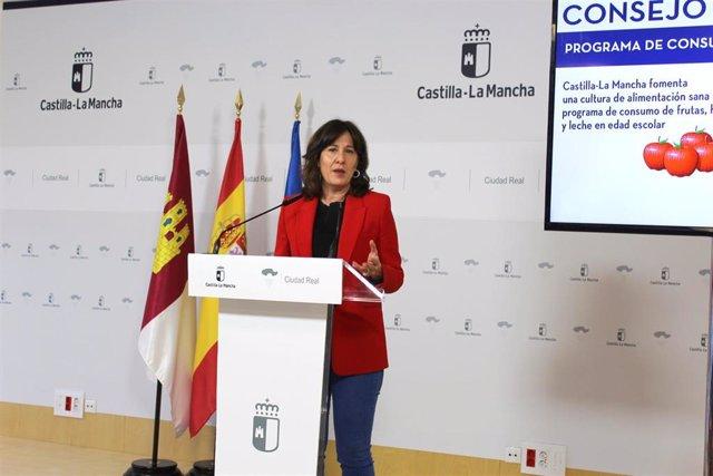 Blanca Fernández, portavoz, en consejo de Gobierno.