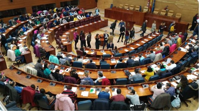 Acto 'Diputados por un día' celebrado en la Asamblea de Madrid