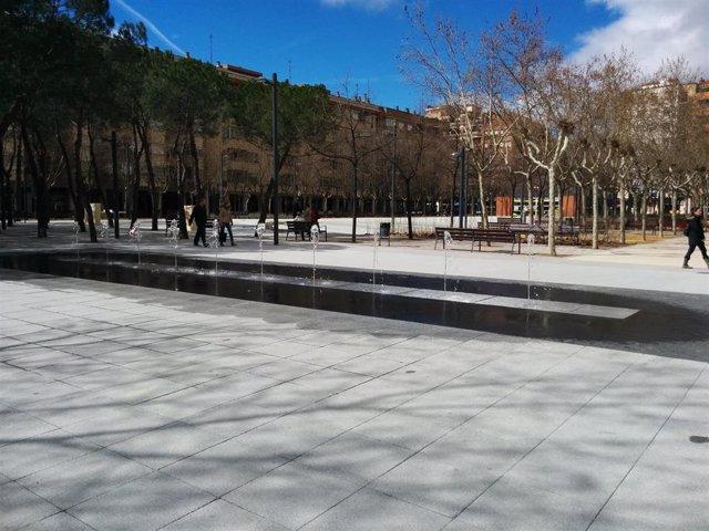 Plaza Primero de Mayo de Logroño, para la que el PP pide una mejora en la iluminación.