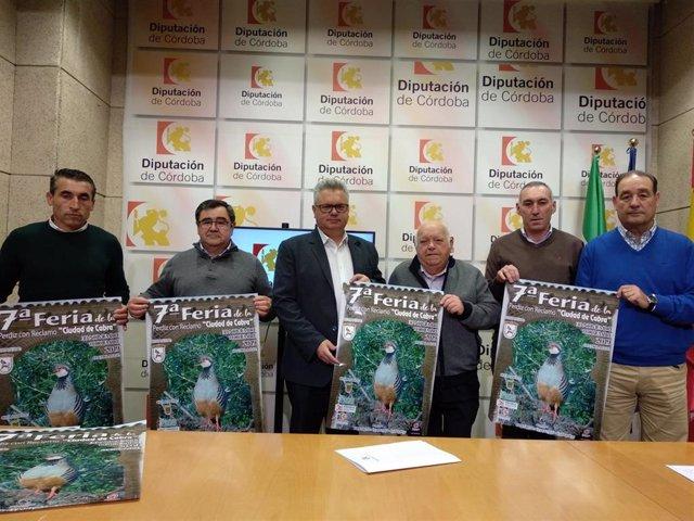 Morales (centro) presenta la VII Feria de la Perdiz con Reclamo 'Ciudad de Cabra'