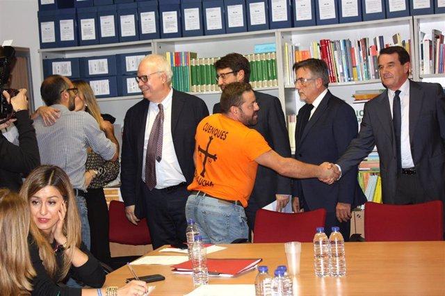 Reunión de la mesa técnica de trabajo para el mantenimiento de las capacidades industriales derivada de la situación de Vesuvius.