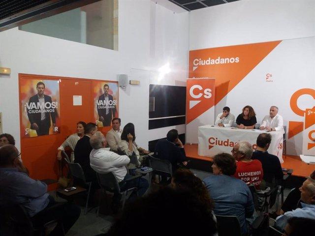 La secretaria de Organización de Cs Andalucía, Mar Hormigo, preside la asamblea provincial de Cs Huelva en octubre.