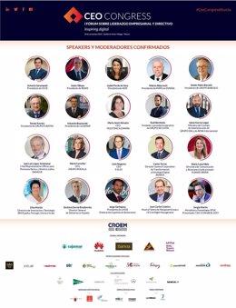 Veinte destacados ponentes participan en el CEO CONGRESS Murcia