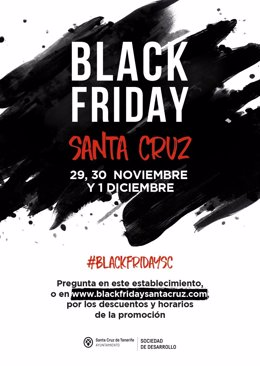Cartel de Black Friday Santa Cruz