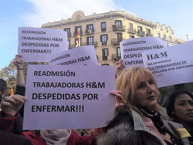 Mig miler de persones es concentren a Barcelona contra la sentncia del TC sobre acomiadaments per baixes.