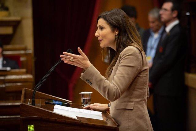 La portavoz de Ciudadanos en el Parlament de Catalunya y portavoz de la Ejecutiva del partido, Lorena Roldán, en una imagen de archivo.