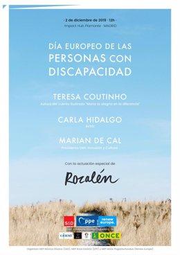 Cartel del Día Europeo de las Personas con Discapacidad