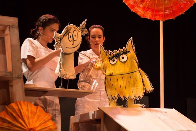 Montaje de teatro infantil El Monstruo de Colores, que llegará al Teatro Echegaray de Málaga