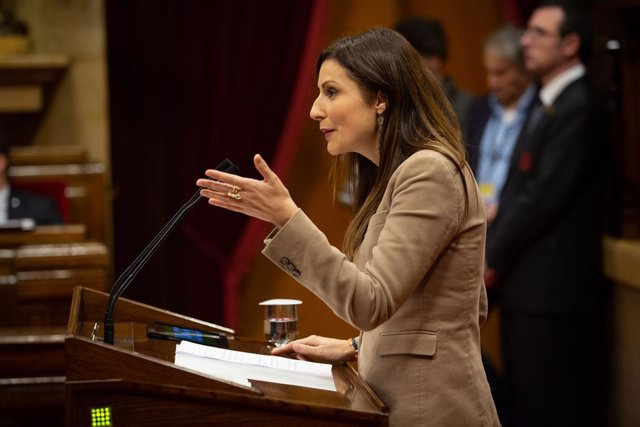 La portaveu de Cs al Parlament de Catalunya i portaveu de l'Executiva del partit, Lorena Roldán, en una imatge d'arxiu.