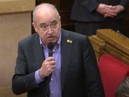 El conseller Josep Bargalló, al Parlament.