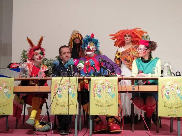 Rueda de prensa de 'Pirritx, Porrotx eta Marimotots' en Pamplona