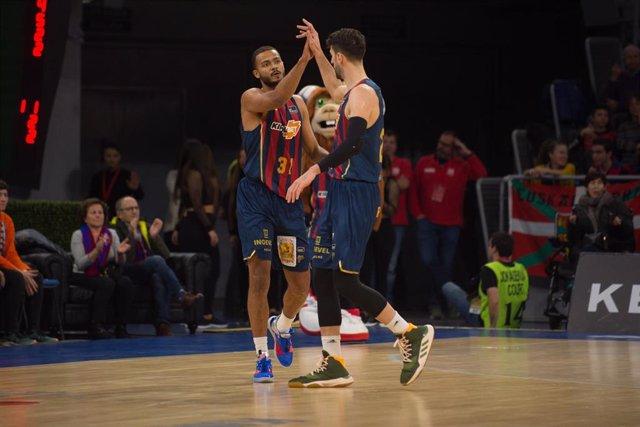 El Baskonia celebra una victoria