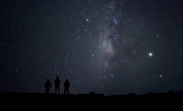 Modo astrofotografía en un teleéfono Pixel.
