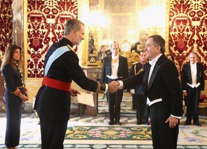 Casa Real.- El Rey recibe las cartas credenciales de siete nuevos embajadores