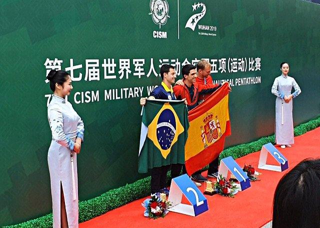 Militar deportista en las Olimpiadas militares en China