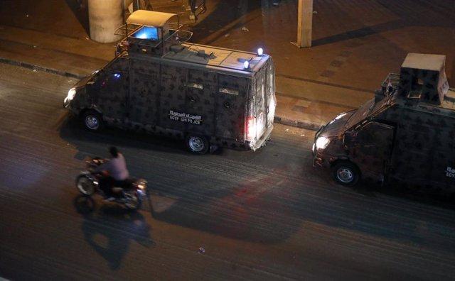 Policía en El Cairo, Egipto