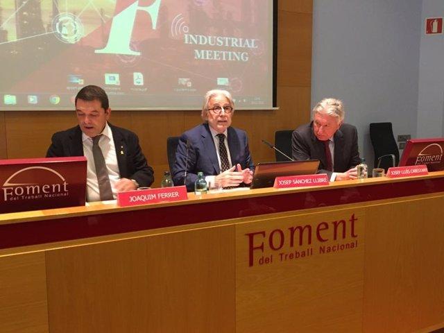 Joaquim Ferrer, Josep Sánchez Llibre i Josep Lluís Cabestany aquest dimarts.