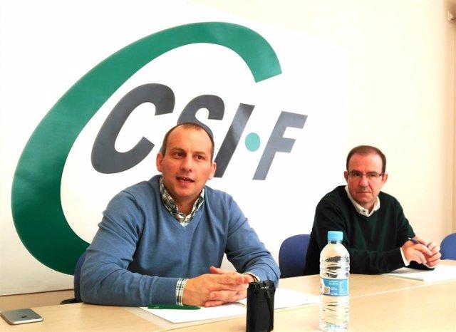 Mario Gutiérrez (a la izquierda) ha sido reelegido presidente nacional de Educación del sindicato CSIF.