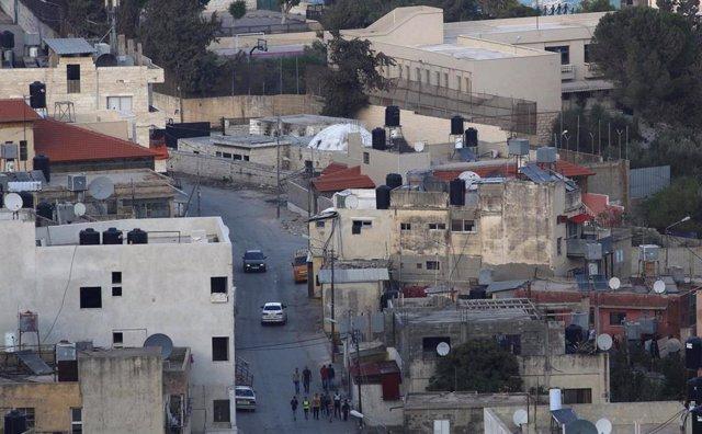Vista de la Tumba del patriarca José, en Nablús