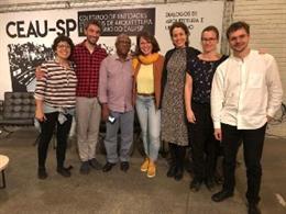 Janet Sanz con representantes de Sao Paulo, Salvador de Bahía y Belo Horizonte.