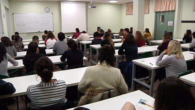 Exámenes de una OPE convocada por el Gobierno Vasco