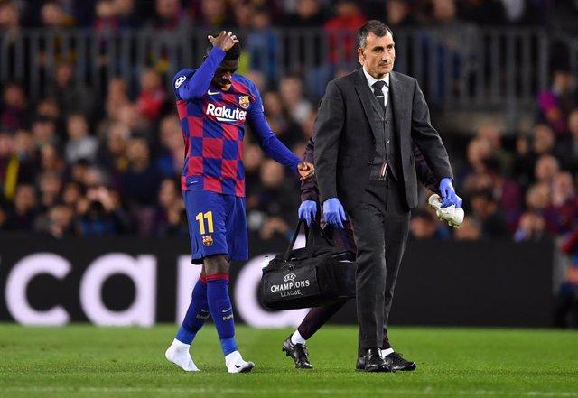 Fútbol/Champions.- Dembélé tiene una lesión muscular en el muslo derecho