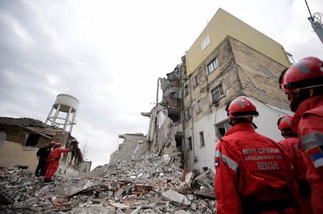 Imagen de los destrozos tras el terremoto que ha sacudido albania el pasado martes