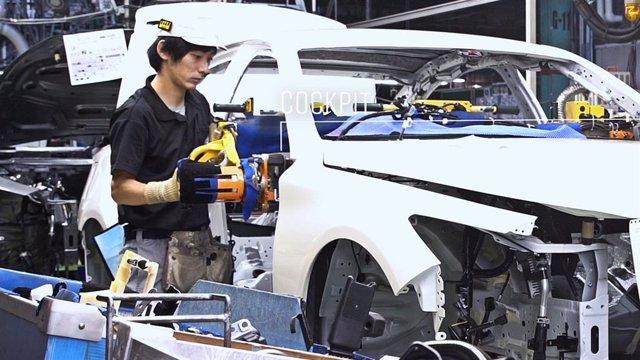 Producción de Nissan en Japón