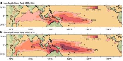 Un océano Indo-Pacífico recalentado altera patrones de lluvia globales
