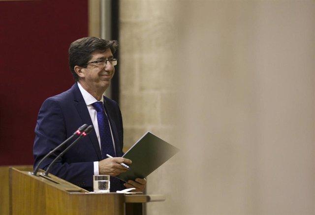 El vicepresidente de la Junda de Andalucía, Juan Marín.