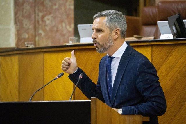 El consejero andaluz de Hacienda, Industria y Energía, Juan Bravo, en una imagen de archivo.