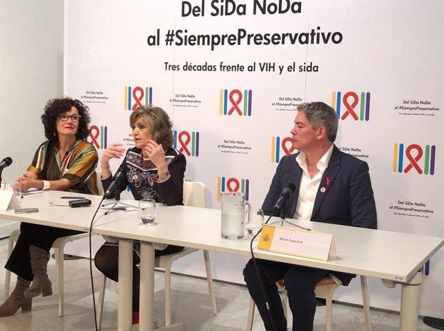 Rueda de prensa la exposición Del SiDa NoDa a #SiemprePreservativo. Tres décadas frente al VIH y Sida.